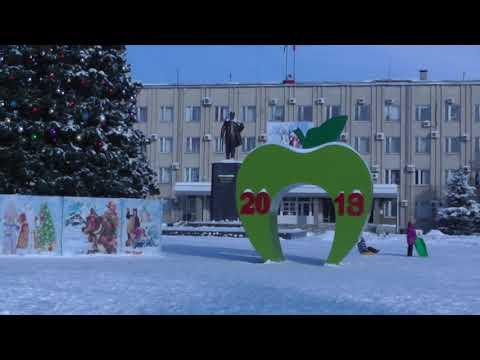 РОССОШЬ   ПЛОЩАДЬ ЛЕНИНА,январь 2019 ,обзор города Россошь.