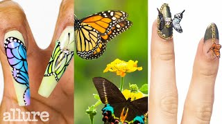 3 Nail Artists Transform Their Nails Into Butterflies | Allure