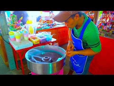 How He Makes The Amazing  Cotton Candy - Sweet Street Food Dessert