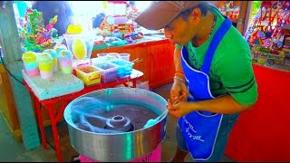 Baixar How He Makes The Amazing  Cotton Candy - Sweet Street Food Dessert