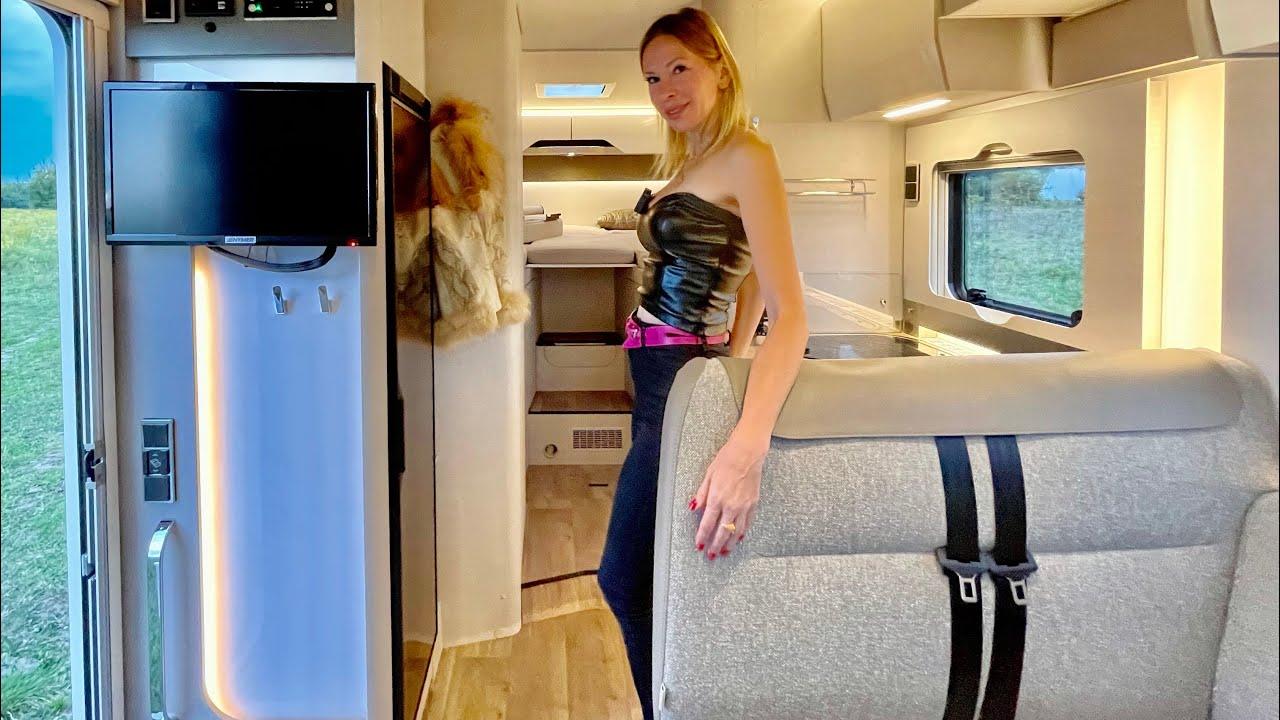 НЕРЕАЛЬНЫЙ АВТОДОМ! Лиса в ШОКе! Mercedes HYMER TRAMP с кроватью, душем и туалетом