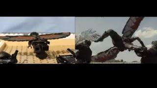 LEGO Captain America CIVIL WAR trailer re-creation SIDE BY SIDE ( Chrome IRON MAN )