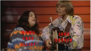 John Denver And Mama Cass Elliot Sing Leaving On A Jet Plane