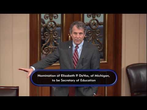 Sherrod Brown on Betsy DeVos
