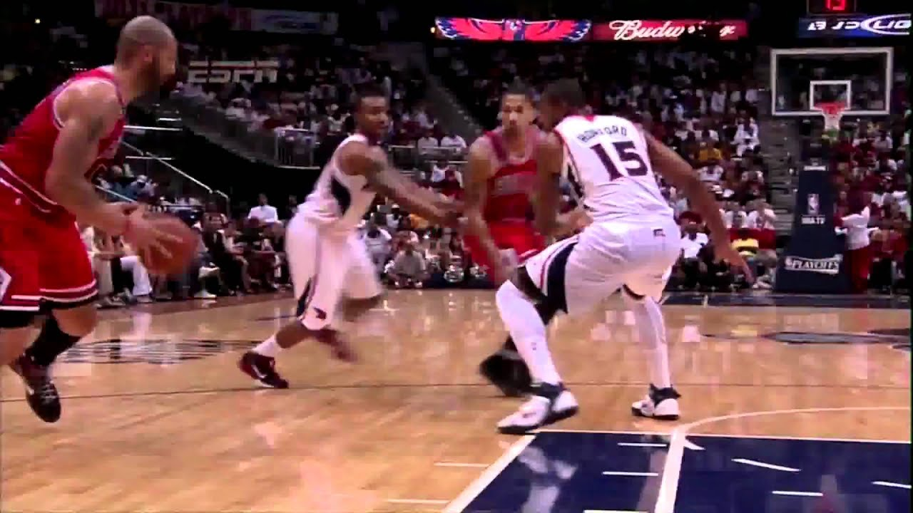 Carlos Boozer dunks on Josh Smith didnt count - YouTube