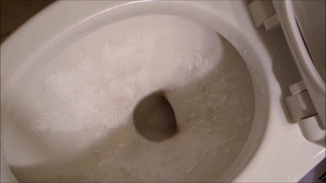 how to clean hard water stains from a toilet bowl youtube. Black Bedroom Furniture Sets. Home Design Ideas