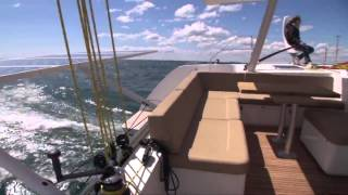 Romp  Outremer 5X catamaran Sea Test with Jonathan Baker