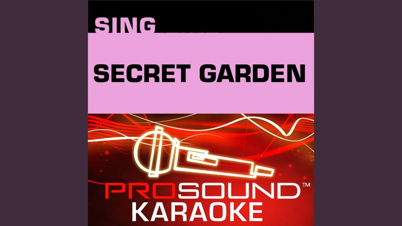 Hold On Karaoke Instrumental Track In The Style Of Secret Garden Youtube