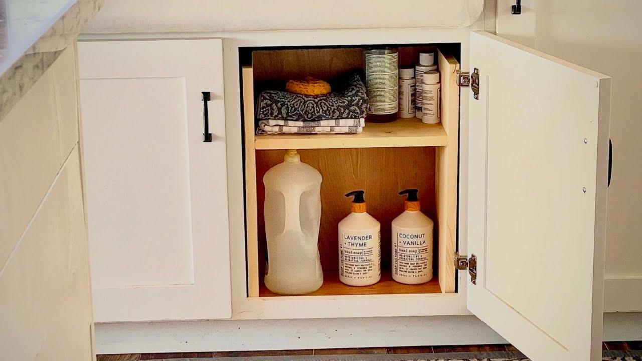 easy under sink storage h shelf