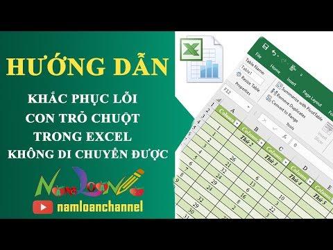 Sửa Lỗi Con Trỏ Chuột Không Di Chuyển Trong Bảng Tính Excel | Namloan ✔️