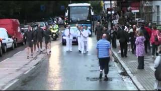 The City Youth FC Five Carry the London 2012 Summer Paralympic Torch Relay. -.mpg