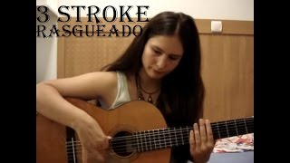 How to play 3 stroke rasgueado (guitar lesson) with FREE TAB! ✔
