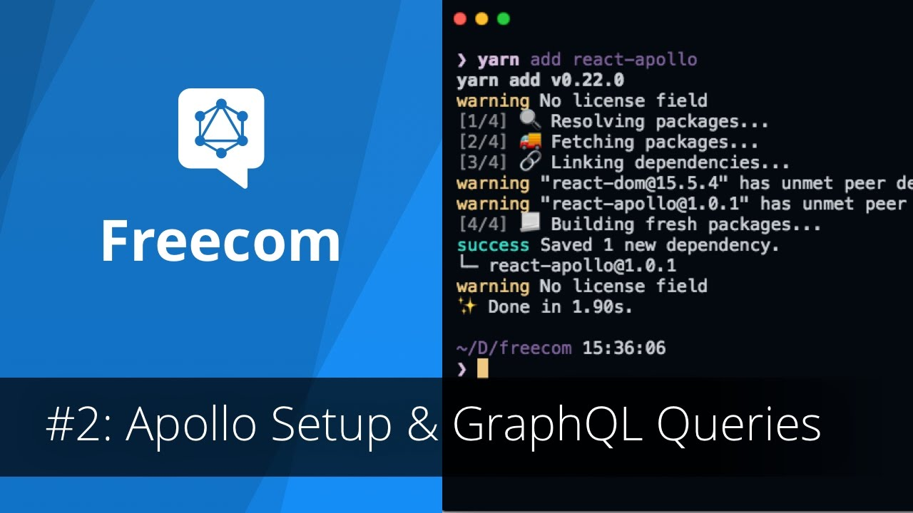 Freecom Tutorial: Apollo Setup & GraphQL Queries/Mutations in React (2/6)