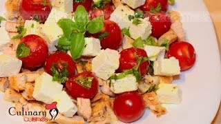 How To Cook Chicken Salad With Cherry Tomatoes And Feta Cheese