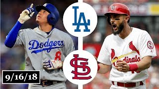 Los Angeles Dodgers vs St. Louis Cardinals Highlights || September 16, 2018