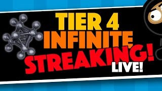live infinite streaking for a t4 catalyst