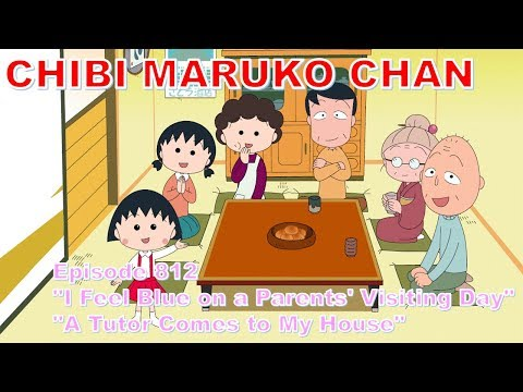 """Chibi Maruko Chan Eng Dub #812  """"I Feel Blue On A Parents' Visiting Day"""" And The Other"""