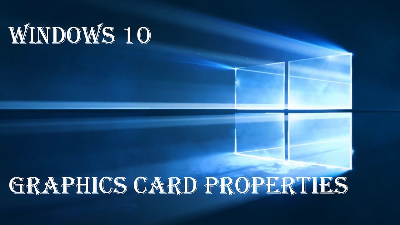 windows 7 how to find graphics card