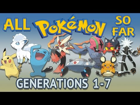 All Pokémon All Generations 1-7