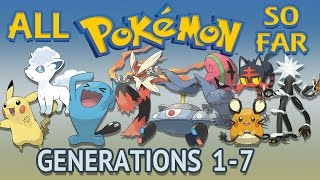 All Pokémon All Generations 1-7