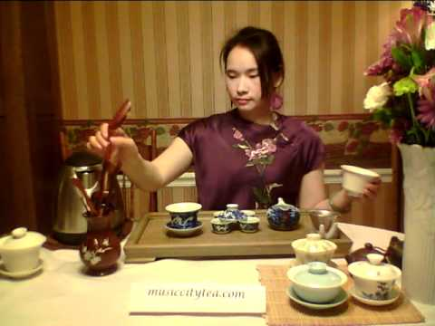 Chinese Tea Ceremony Gaiwan: Green Tea