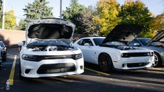 Hellcat Charger Burnout & Challenger acceleration + many other mopars! [DAMM Meet]