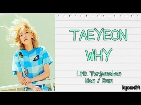 Girls' Generation SNSD 소녀시대 TaeYeon   Why Lirik Bahasa Indonesia HAN ROM