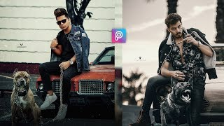 PicsArt Gangstar Boy with Dog Photo Editing tutorial in picsart Step by Step in hindi -Viral editing