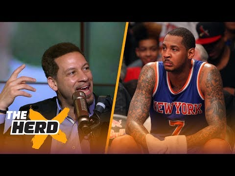Chris Broussard on Carmelo in OKC,  Kyrie's split with LeBron, Durant's offseason | THE HERD