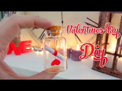 Cute Valentines Day Crafts - Love letter in a bottle