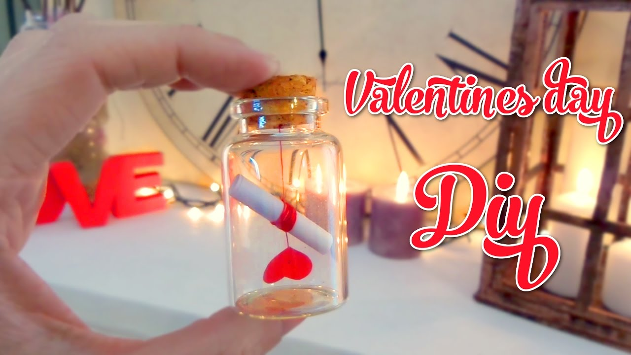 cute valentines day crafts love letter in a bottle youtube