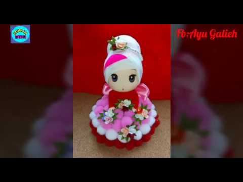 Diy Tutorial Boneka Hijab Pom Pom Lucu Youtube