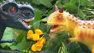 Фильм про динозавров. ГИГАНТСКИЙ КАРНОТАВР и КАРЛИКОВЫЙ ГИГАНОТОЗАВР. Динозавры для детей