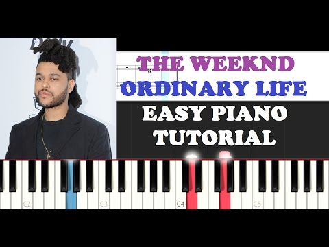 The Weeknd - Ordinary Life (EASY Piano Tutorial)