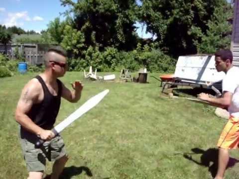 Sword disarm- Using a Plastic Training Gladius