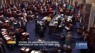 Senator John McCain votes NO!! on Skinny Repeal of Obamacare