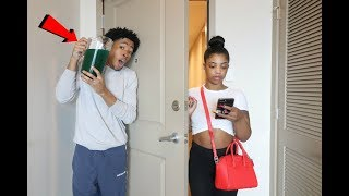 SLIME PRANK ON GIRLFRIEND!!