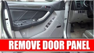 How to Remove the Door Panel on 2004 Toyota 4Runner