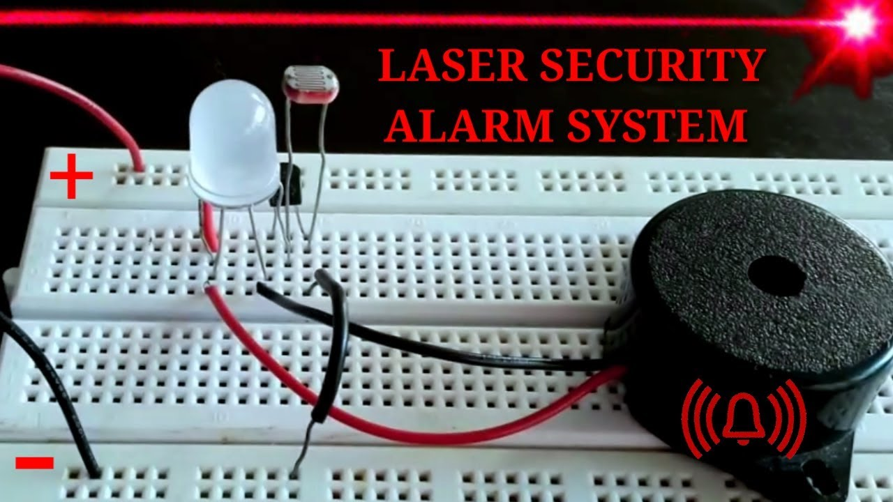 How to make a Laser Tripwire Alarm Circuit on a Breadboard [HD ...