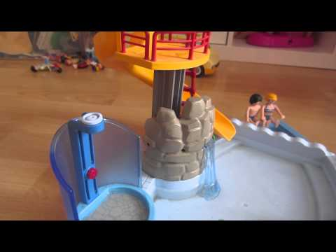 Playmobil colonie de vacances la piscine 1 youtube for Piscine playmobil