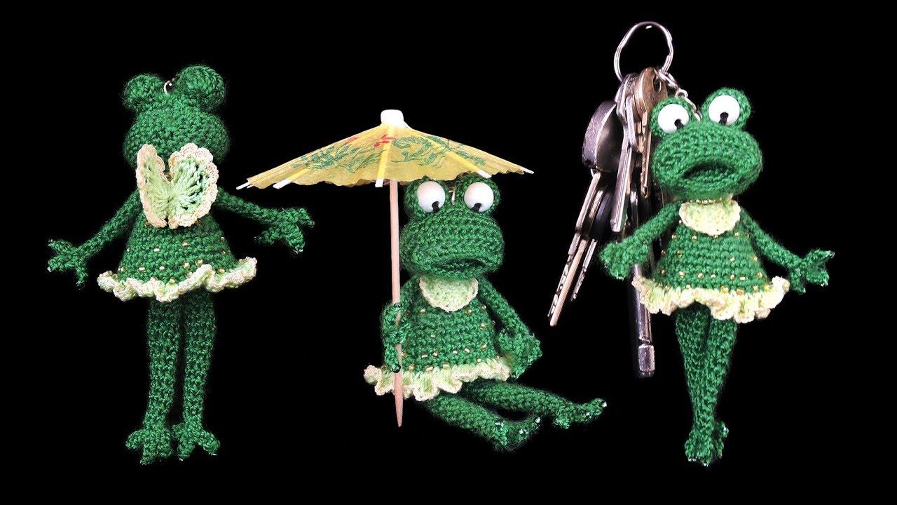 Frosch Elfe Schlüsselanhänger Häkeln Frog Pendant Crochet Youtube