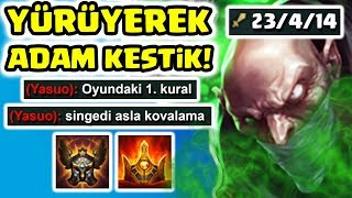 LEAGUE OF LEGENDS'IN EN ZEHİR ŞAMPİYONU!! 3LÜ PROXY + LCS FARM + DOKUNMADAN KİLL = SINGED !!