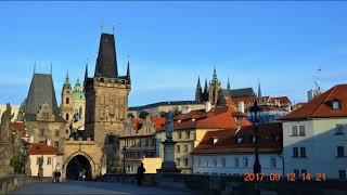 Charles Bridge, Vltava river.    Prague
