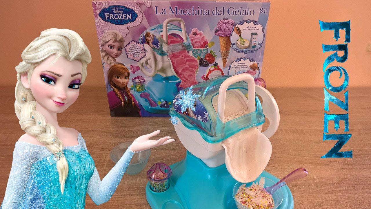 Attractive Frozen Ice Cream Machine Part - 3: FROZEN Disney Ice Cream Maker   Elsa Ice Cream Machine For Kids, Girls  Review (macchina Del Gelato) - YouTube