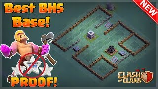 Clash of clans BEST Builders hall 5 {BH5} Base! Anti three star [With Proof Replay]