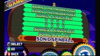 Sonic Mega Collection Walkthrough part 1 - Games