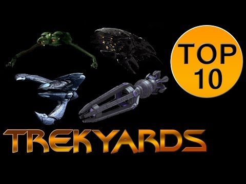 Trekyards Top 10 -  Alien Ships (Canon)