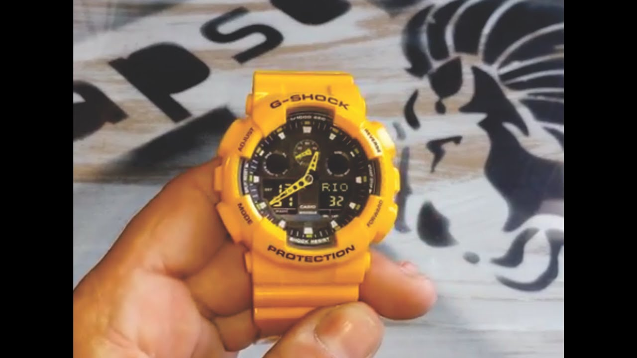 4d2a269545b Como Ajustar o Ponteiro com o Digital do Relogio G-SHOCK ga100 - YouTube
