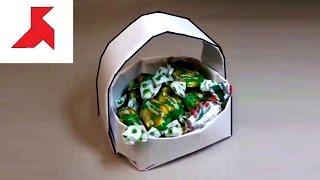 Как сделать оригами КОРЗИНКУ из бумаги А4 своими руками?