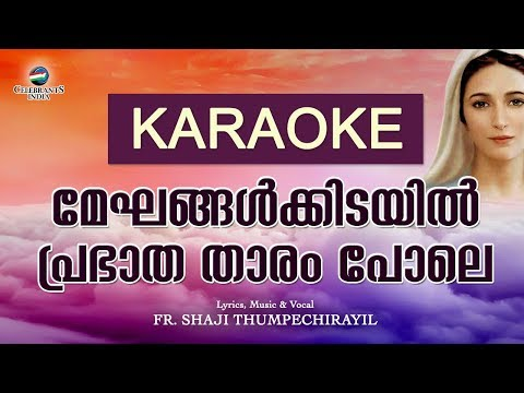 Meghangalkidayil Karaoke  Ammackuvendi  Lyrical  Marian 2nd  Fr Shaji Thumpechirayil